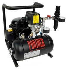 Werther Panther Air Compressor Compact/portable size Whisper quiet operation Panther P30PC sealed unit Air Compressor Part No. 4GCOMP